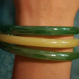 Jewelry - Trio of Vintage Glass Bangles
